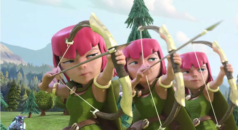 clash of clans Archer attack guide