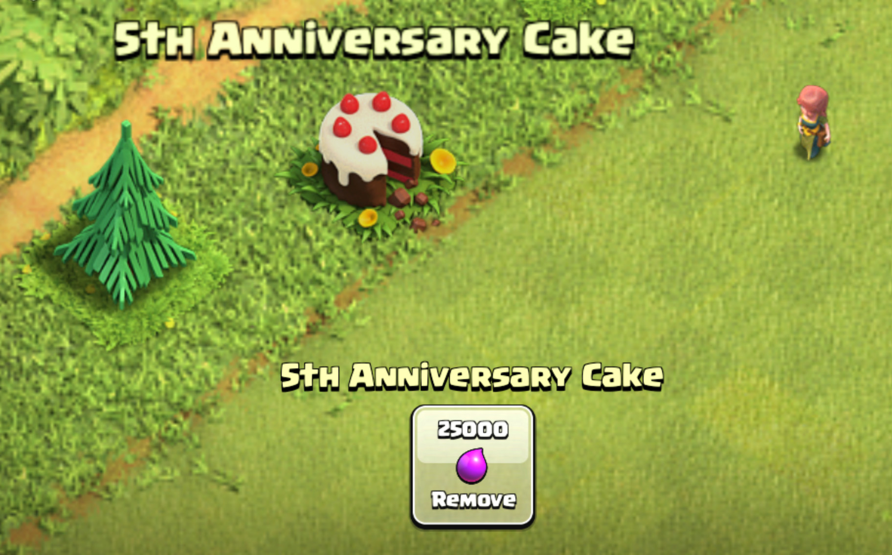 5 Year Clash of clans Cake